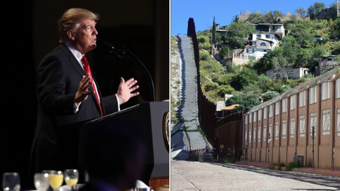 Without citing specifics, Trump vows to keep costs down on border wall