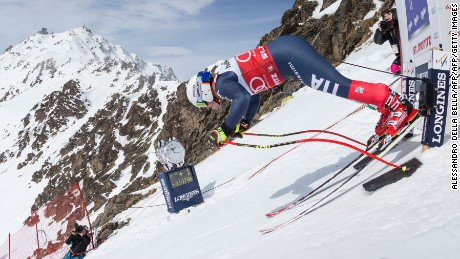 Peter Fill free fall st moritz downhill