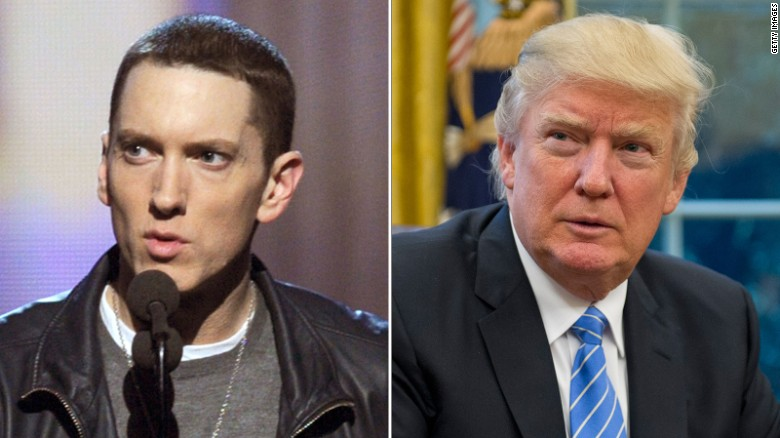 Donald Trump in hip-hop, before and after (2016)
