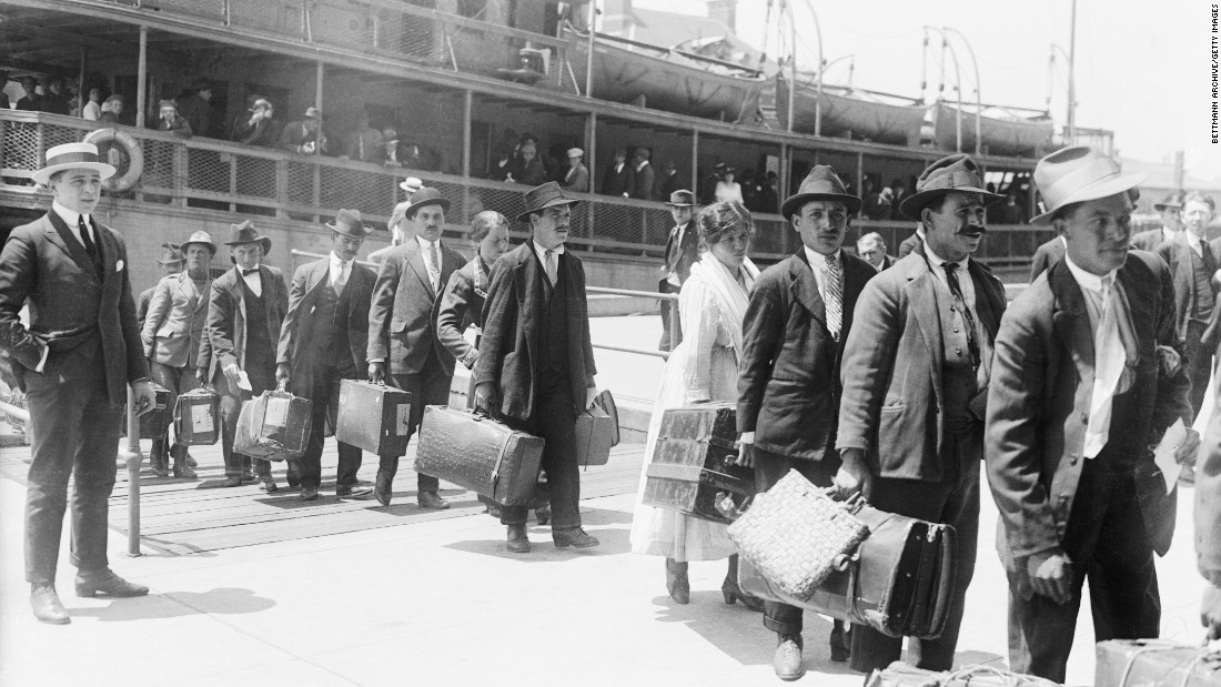 Immigration ban? We were there exactly 100 years ago today