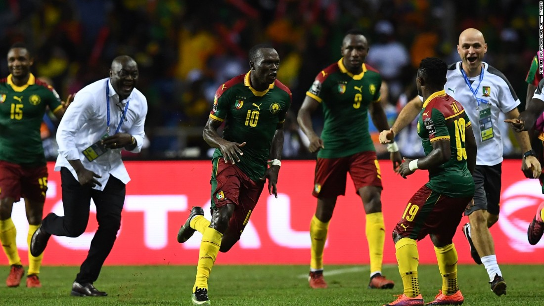 And Aboubakar -- deemed unfit to play from the start -- stayed alert as the game approached the closing stages, playfully hooking the ball over Ali Gabr before firing Cameroon into a lead it would not relinquish.