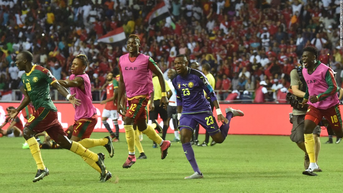 Written-off before a ball had been kicked, Cameroon produced a stirring second half comeback to beat seven-time champion Egypt in Libreville.
