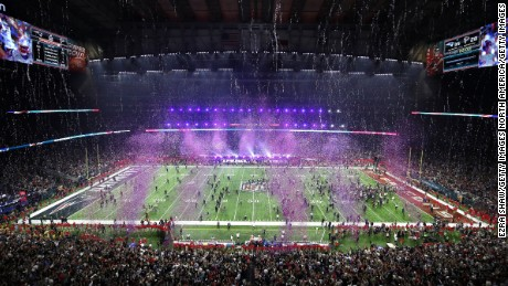 HOUSTON, TX - FEBRUARY 05:  Confetti falls after the New England Patriots defeated the Atlanta Falcons during Super Bowl 51 at NRG Stadium on February 5, 2017 in Houston, Texas. The Patriots defeated the Falcons 34-28.  (Photo by Ezra Shaw/Getty Images)