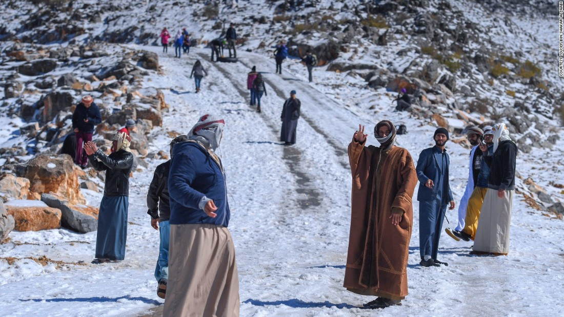While the region Ras al-Khaimah has experienced snow three years in a row, the heavy fall at Jebel Jais mountain was unusual.