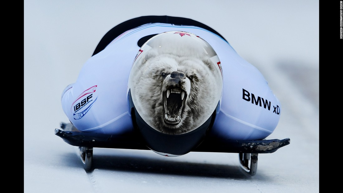 Canada's Barrett Martineau competes in the World Cup skeleton event in Innsbruck, Austria, on Friday, February 3.