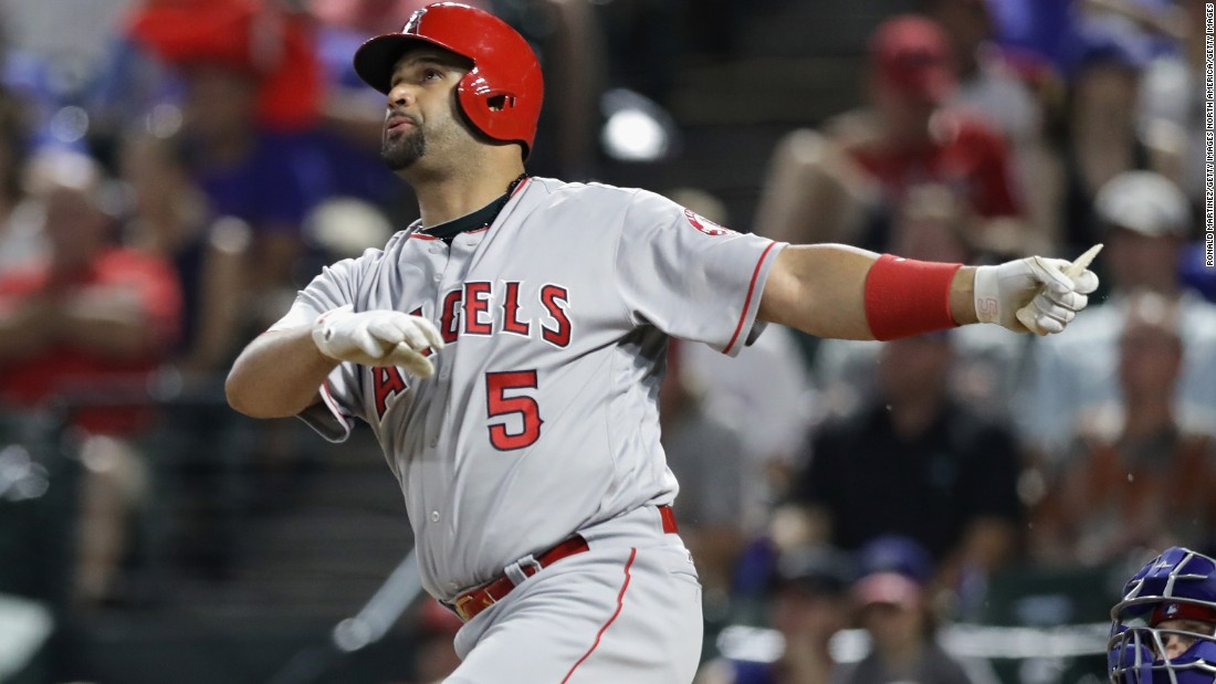 A three-time NL MVP and two-time World Series champion, Albert Pujols is simply one of the greatest power hitters in history. At 37, he's currently ninth on the all-time home run leaders list (591) and his power is not waning.  A 2012 move to the American League's Los Angeles Angels -- on a 10-year $240 million deal -- enabled the Dominican to switch to designated hitter, where he posted 31 HR and 119 RBI last year.