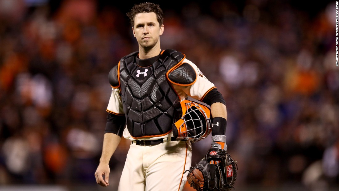 San Francisco Giants' catcher Buster Posey has called the pitches for three World Series championships, is a former NL Rookie of the Year, and a four-time All-Star with a career .307 batting average. In 2012 he was both the Comeback Player of the Year and NL Batting Champion. Halfway through an eight-year $159 million deal, Posey is deservedly baseball's highest-paid active catcher.