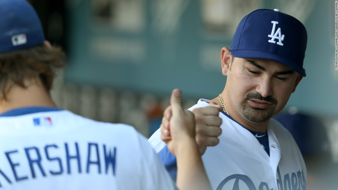 "Los Angeles Dogers teammates  Adrian Gonzalez (right) and Clayton Kershaw both feature as top 20 Major League Baseball earners in 2017. Kershaw is one of 12 baseball players in history to sign a contract worth over $200 million. Topping the list is Miami Marlins outfielder Giancarlo Stanton, with a 13-year contact worth $325 million, the highest in sports. Stanton, however, will make $14.5 million in 2017, placing him 70th this year. <a href=""http://www.spotrac.com/"" target=""_blank"">(Source: Spotrac)</a>."