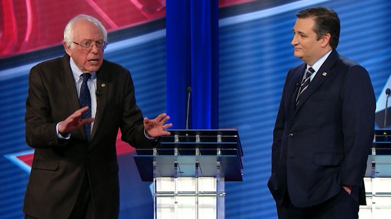 Cruz, Sanders debate Obamacare in 90 seconds