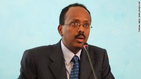 Farmajo (pictured) will take over from  President Hassan Sheikh Mohamud.