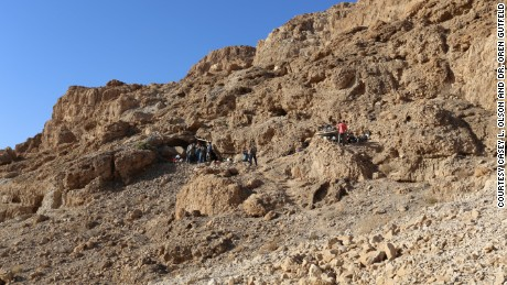 Entrance of newly discovered Dead Sea Scrolls cave.