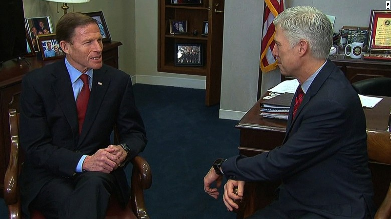Senator urges Gorsuch to make public remarks