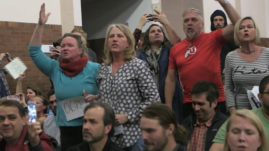 Are Dems being paid to show up at town halls?