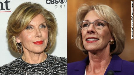 Christine Baranski and Betsy DeVos