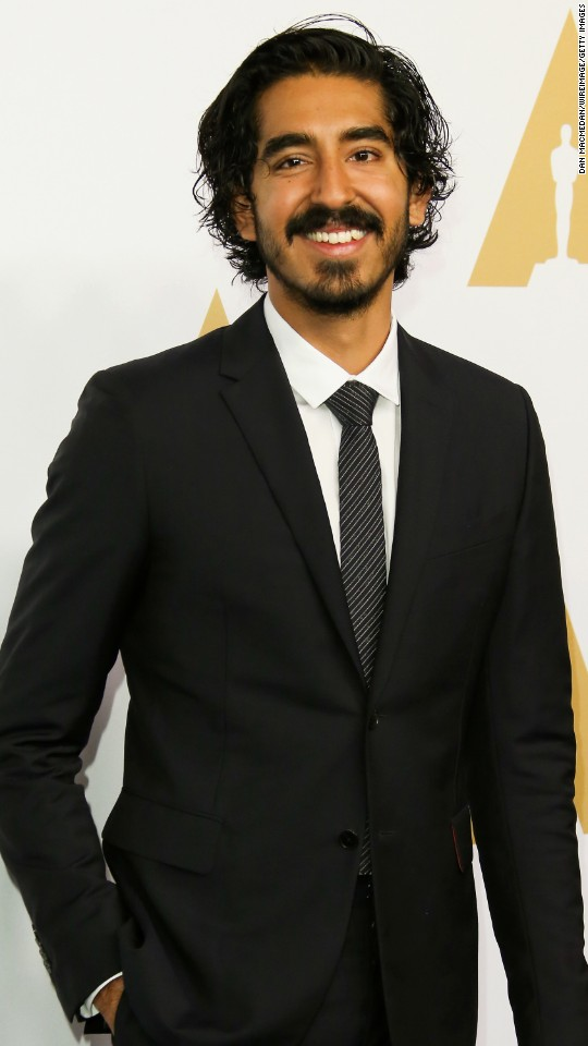 "Dev Patel is nominated for best performance by an actor in a supporting role in ""Lion."""