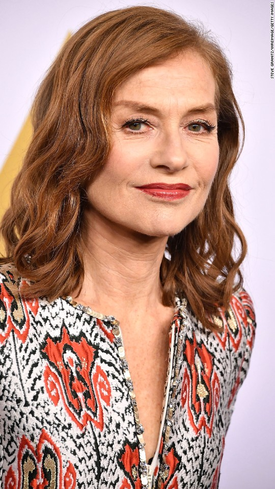 "Isabelle Huppert is nominated for best performance by an actress in a leading role in ""Elle."""