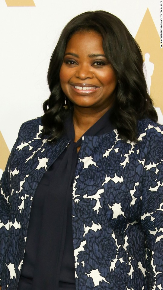 "Octavia Spencer is nominated for best performance by an actress in a supporting role in ""Hidden Figures."""