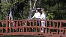 "Trump and Akie Abe, wife of Japanese Prime Minister Shinzo Abe, <a href=""http://www.cnn.com/2017/02/11/politics/melania-trump-akie-abe-garden-tour-florida/"" target=""_blank"">tour the Morikami Museum and Japanese Gardens</a> in Delray Beach, Florida, on Saturday, February 11. It was Trump's first solo public appearance as first lady."
