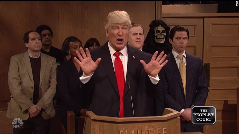 'SNL': Trump's day in court