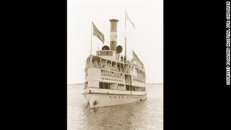 The Floating Hospital began on a boat in 1894 and expanded to a larger ship in 1905.