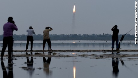 India in record satellite launch as Asia's space race heats up