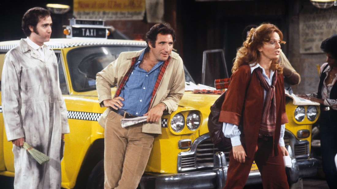 "This Emmy-winning comedy revolved around a group of New York taxi drivers employed by the Sunshine Cab Co. -- which in and of itself was hilarious since there was nothing sunny about their gig. Yes, ""Taxi"" had the performances -- including a memorable one from comic maverick Andy Kaufman, left -- but it was the sarcastic, witty and heartfelt writing that made this show one of the all-time best."