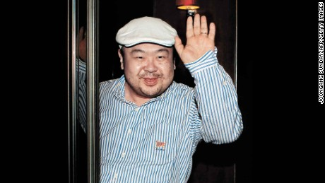 In a picture taken in 2010, Kim Jong Nam, the eldest son of former North Korean leader Kim Jong-Il, waves after an interview with South Korean media representatives in Macau.