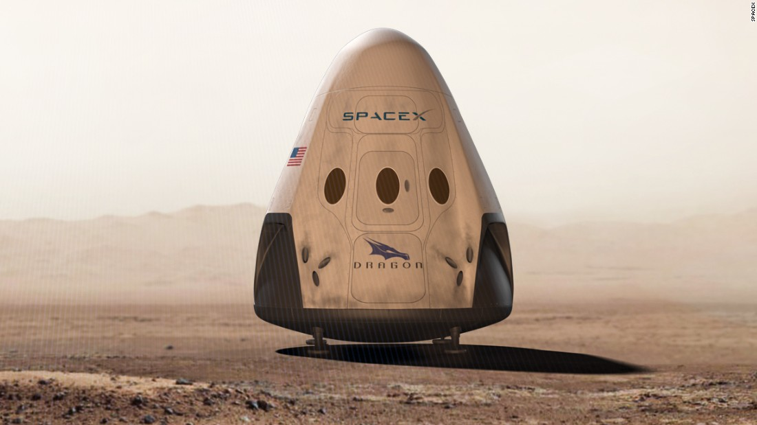 Spaceship company SpaceX, headed by Tesla CEO Elon Musk, is taking two thrill seekers on a trip around the moon in 2018. It's not the first exciting feat for the pioneering firm: in 2017, it successfully launched a used rocket, the Dragon (pictured), into space.