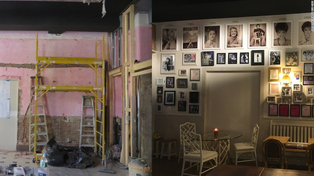 Before and after shots show the evolution of the Rue La Rue Café.
