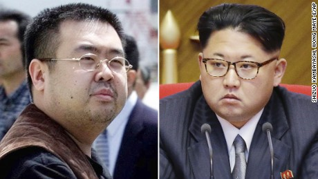 Kim Jong Nam, left, was the half brother of North Korean leader Kim Jong Un.