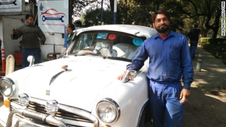 Vad Prakash, a mechanic in Delhi, says the Ambassador is the best car in India.
