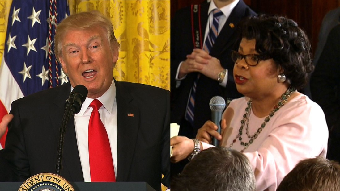 Trump asks African-American reporter to set up meeting with black lawmakers