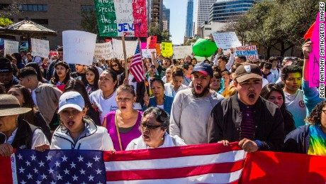 Protesters in Austin, Texas, were joined in solidarity by hundreds of restaurant workers across the country.