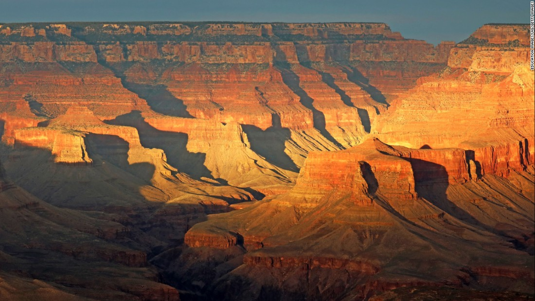 <strong>2. Grand Canyon National Park, Arizona:</strong> The Grand Canyon is 277 river miles long, up to 18 miles wide in parts, and a mile deep. Mather Point along the park's South Rim is a spectacular place from which to view the sunset.