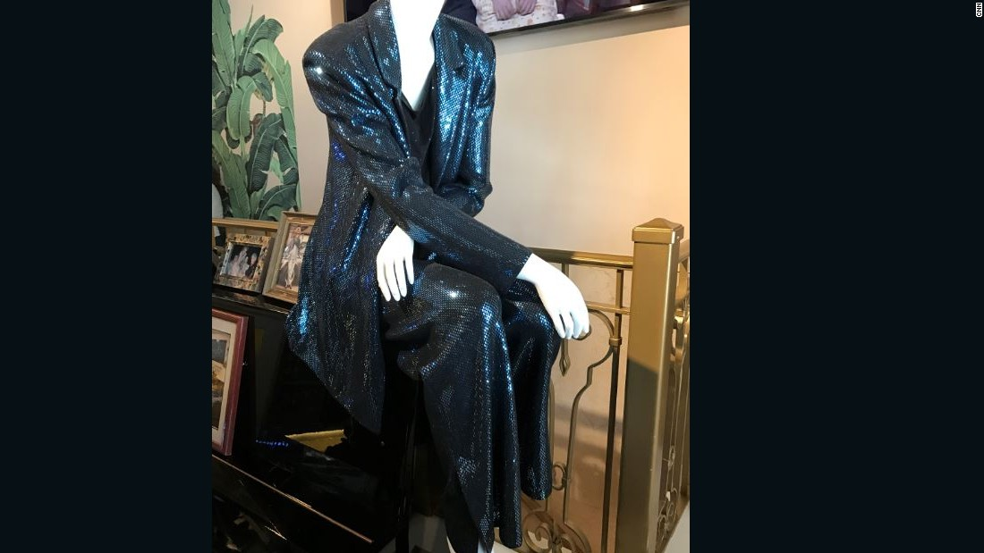 Outfits worn by actress Rue McClanahan are displayed at the Rue de la Rue Café in New York City.