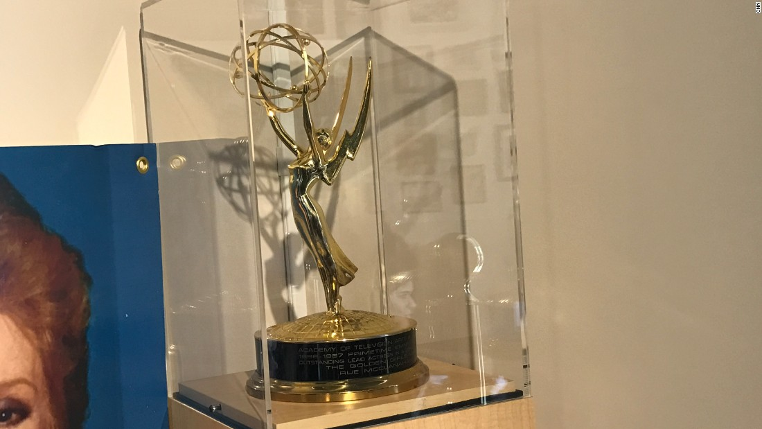 The Emmy Award won by Rue McClanahan in 1987 is displayed at the Rue La Rue Café.
