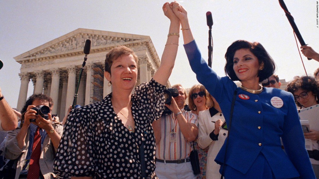 "<a href=""http://www.cnn.com/2017/02/18/politics/norma-mccorvey-roe-v-wade-figure-dies/index.html"">Norma McCorvey</a>, the anonymous plaintiff ""Jane Roe"" in the landmark Supreme Court case Roe v. Wade, died February 18, a priest close to her family said in a statement. Multiple media sources said she was 69. In this photo from 1989, McCorvey is on the left holding hands with attorney Gloria Allred. Roe v. Wade was the 1973 case that established a constitutional right to abortion. McCorvey once supported the pro-choice movement but switched sides in 1995."