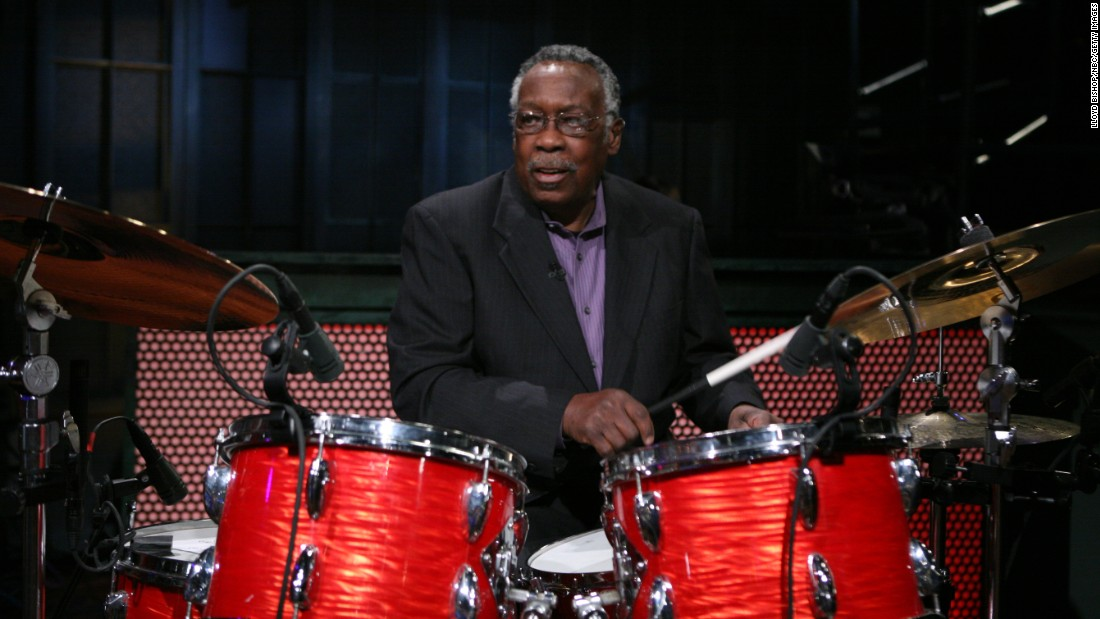 "Clyde Stubblefield, seen here on ""Late Night with Jimmy Fallon,"" died February 18 at age 73. He was the drummer for James Brown in the 1960s and '70s. He laid down the groove on such Brown hits as ""Cold Sweat,"" ""Sex Machine"" and ""Say it Loud, I'm Black and I'm Proud."" The drum break in the song ""Funky Drummer"" has been sampled and used in over 1,000 songs."
