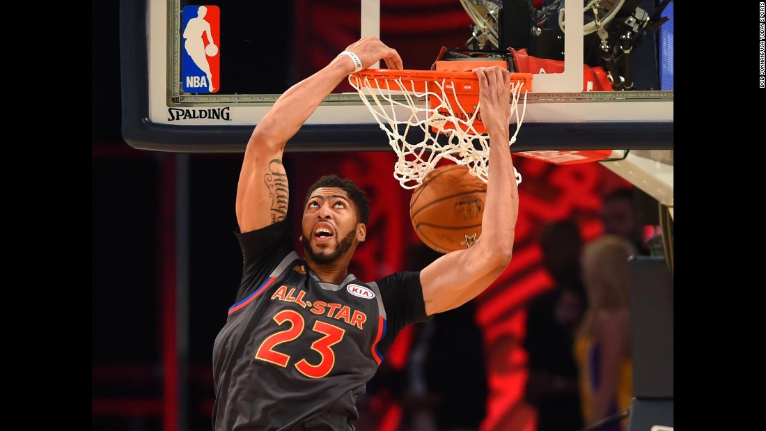 The National Basketball Association's Western Conference beat the Eastern Conference 192 to 182 to win the 2017 NBA All-Star Game Sunday night in New Orleans. For hometown hero, No. 23, Anthony Davis, it was an unforgettable game. Click through the gallery for more images of the history-making, record-breaking shooting match.