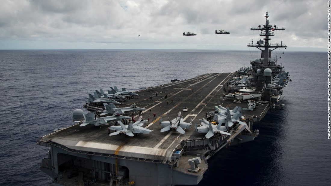North Korea issues warning as US strike group heads to Korean Peninsula