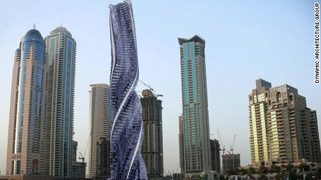 World's first rotating, shape-shifting tower planned for Dubai
