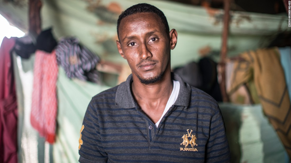 "<strong>Abdullahi Ali Abdullahi</strong>, 31, was to be resettled in Columbus, Ohio, with his family until the travel ban, which was announced two days before they were scheduled to leave. In the interim his medical insurance expired and he cannot travel until it is renewed. ""We may be Muslims, but we have never taken part in terrorist attacks and we don't believe in it,"" he told CNN. Abdullahi's family fled Somalia when he was 6, after his grandfather was killed, and he has lived in refugee camps ever since. ""I still have the hope that I will be in America,"" he said. ""I  want to do anything that will help develop the United States. I want to do that because they'd be giving me respect to welcome me."""