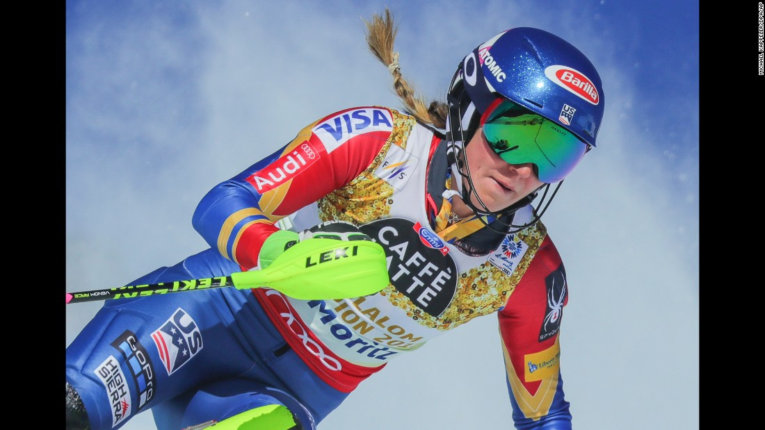 "American skier Mikaela Shiffrin <a href=""http://www.cnn.com/2017/02/17/sport/mikaela-shiffrin-st-moritz-2017/index.html"" target=""_blank"">won slalom gold</a> for the third straight World Championships on Saturday, February 18. She's the first woman to do that since Germany's Christl Cranz in 1939."