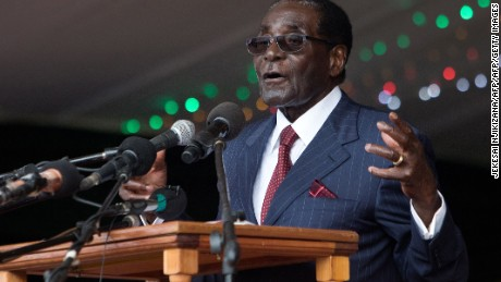 Zimbabwe's President Robert Mugabe delivers a speech during celebrations marking his 92nd birthday in Masvingo a year ago.