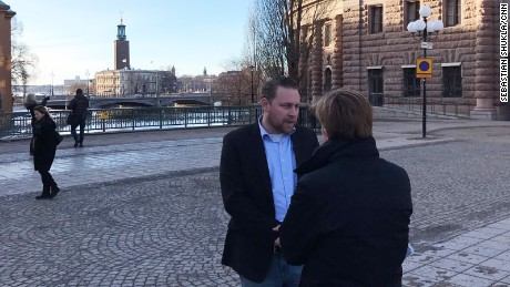 Lawmaker Mattias Karlsson of the right-wing Sweden Democrats says his country is in crisis.