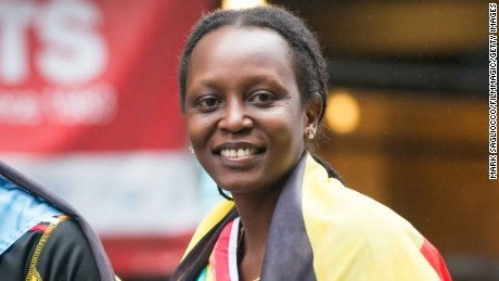 NEW YORK, NY - JUNE 28:  Ugandan Activist Grand Marshall Kasha Jacqueline Nabagesera attends the New York City Pride March on June 28, 2015 in New York City.  (Photo by Mark Sagliocco/FilmMagic)
