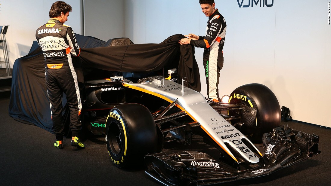 Force India has retained Mexico's Sergio Perez (left) for the 2017 season but Esteban Ocon is a new face. The 20-year-old spent the second half of 2016 at the now defunct Manor Racing team. The Frenchman replaced Renault-bound Hulkenberg.