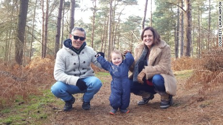 Carlos, Thomas and Caroline pictured together in Hertfordshire, England in December 2016.