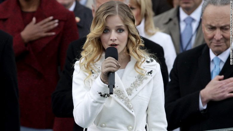 Inauguration singer calls out Trump policy