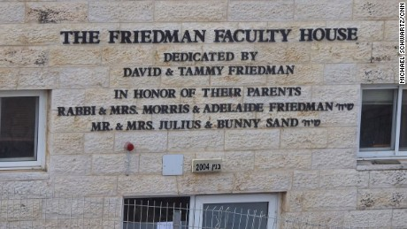 David Friedman's name is hugely visible in Beit El.